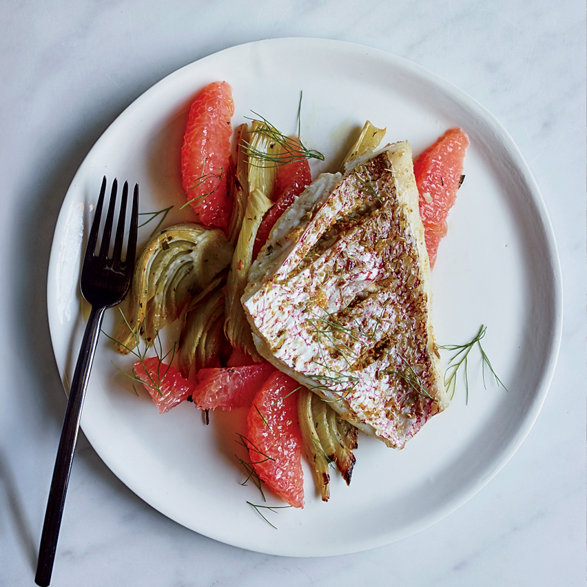 Fennel-and-Grapefruit Rubbed Snapper