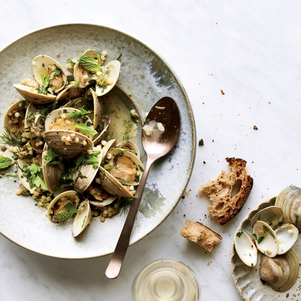 Garlicky Littleneck Clams with Fregola