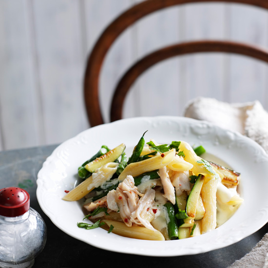 Penne with Smoked Chicken and Mascarpone