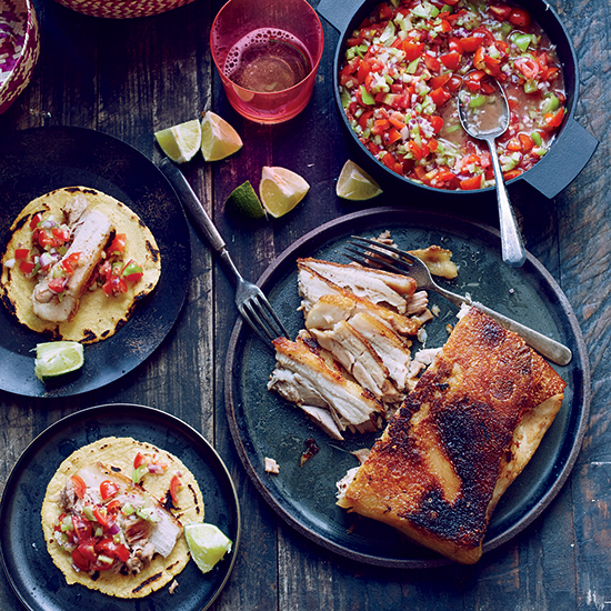 Crispy Pork Belly Tacos with Pico de Gallo