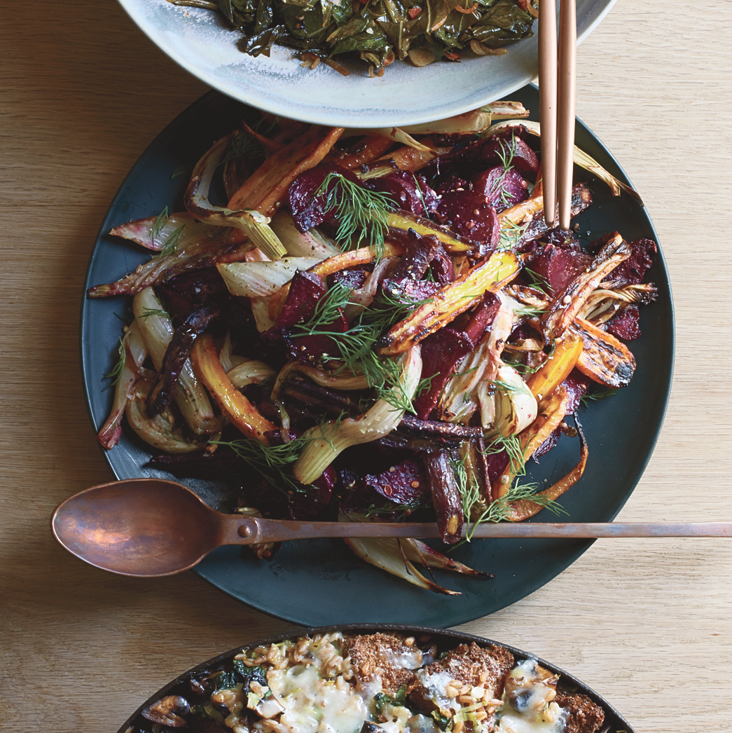 Caramelized Vegetables with Dijon Butter