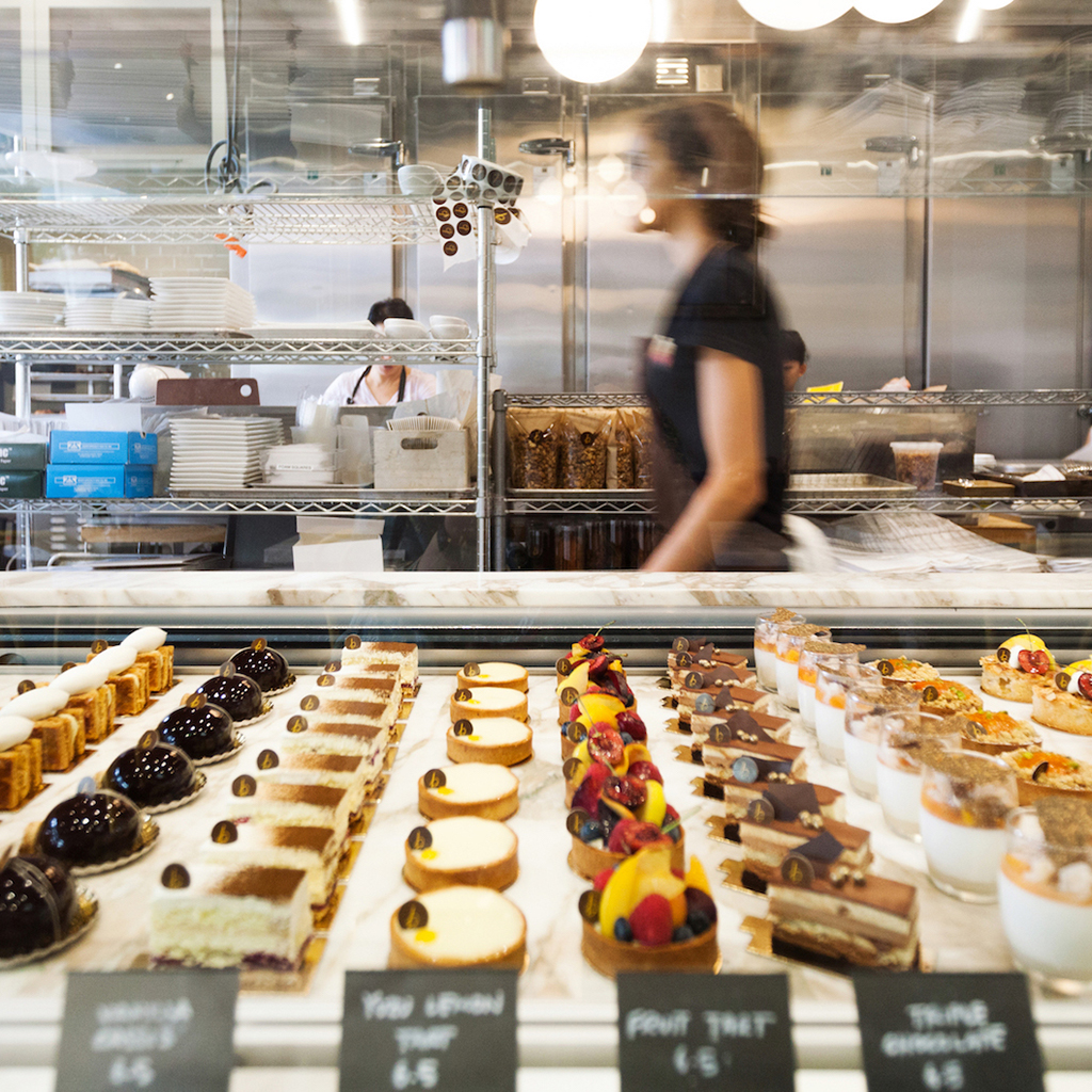 The mouth watering counter at B. Patisserie