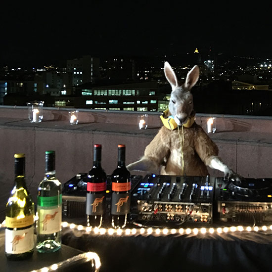 The DJing Kangaroo from Yellow Tail's Super Bowl Commercial