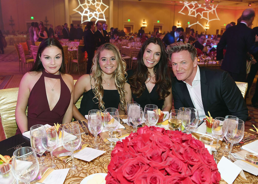 Gordon Ramsay and his family attend the 50th anniversary gala at Caesars Palace