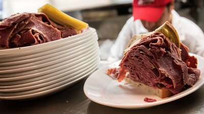 Image result for The Difference Between Montreal Smoked Meat and New York Pastrami