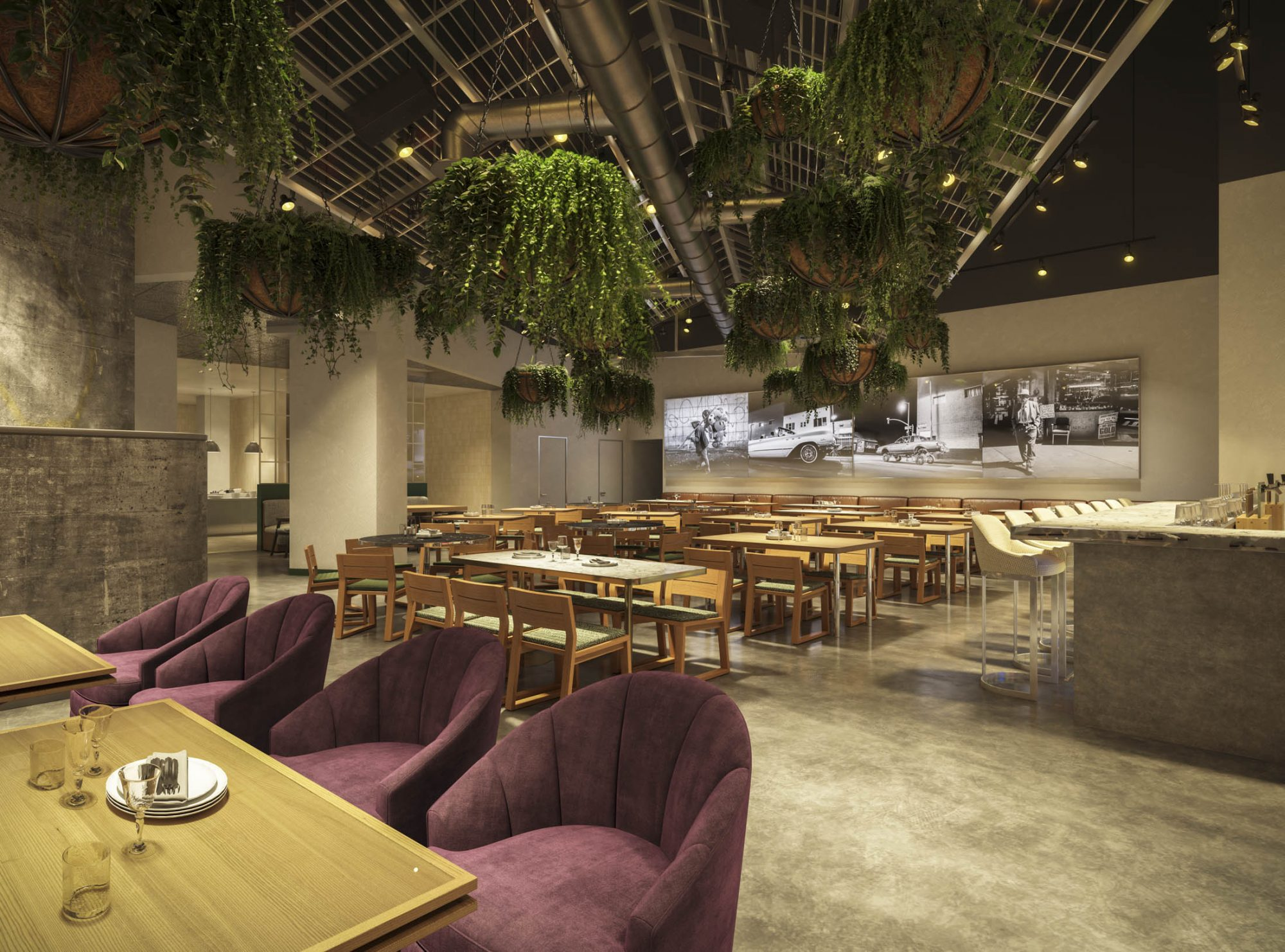 A rendering of Roy Choi's soon-to-open Vegas restaurant, Best Friend.