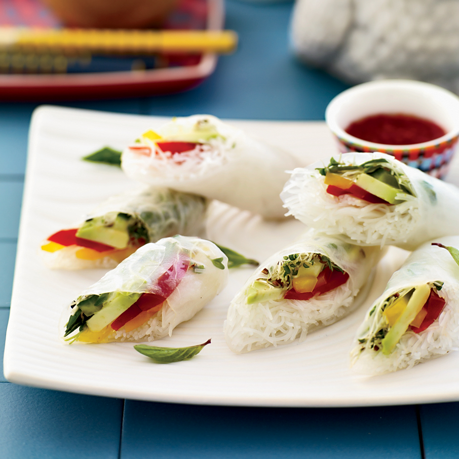 Vegetable Summer Rolls with Chile-Lime Dipping Sauce Recipe ...