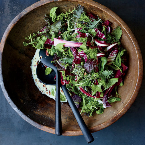 Winter Greens Salad with Buttermilk Dressing