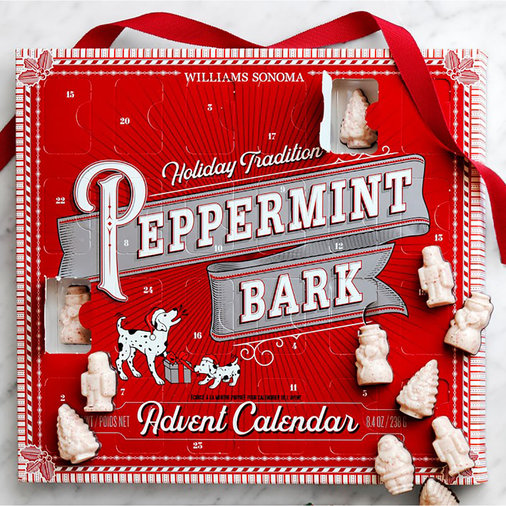 Williams Sonoma Peppermint Bark Advent Calendar