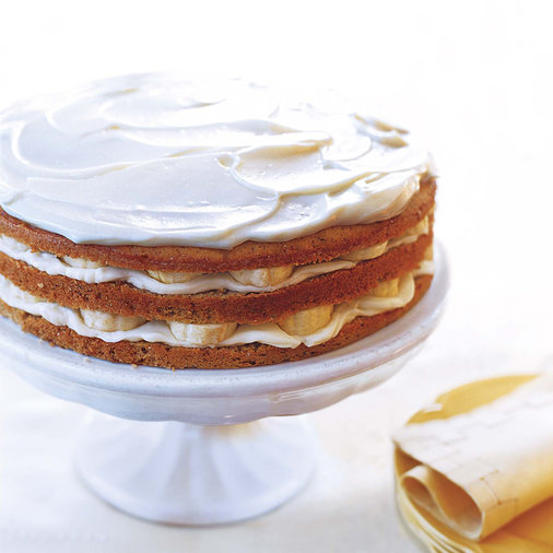 Banana Layer Cake with Mascarpone Frosting