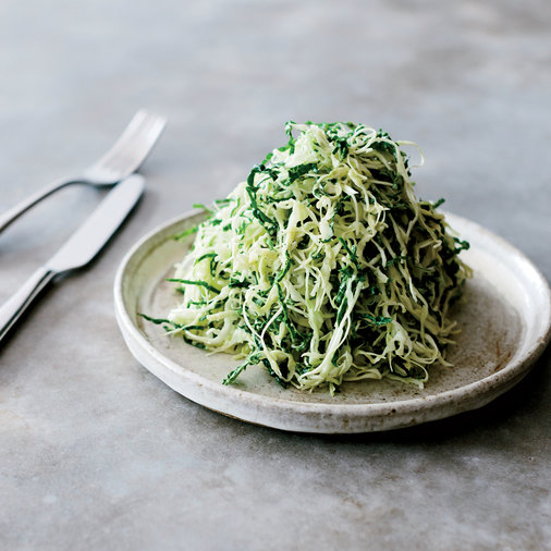 Cabbage-and-Kale Slaw with Toasted Yeast Dressing
