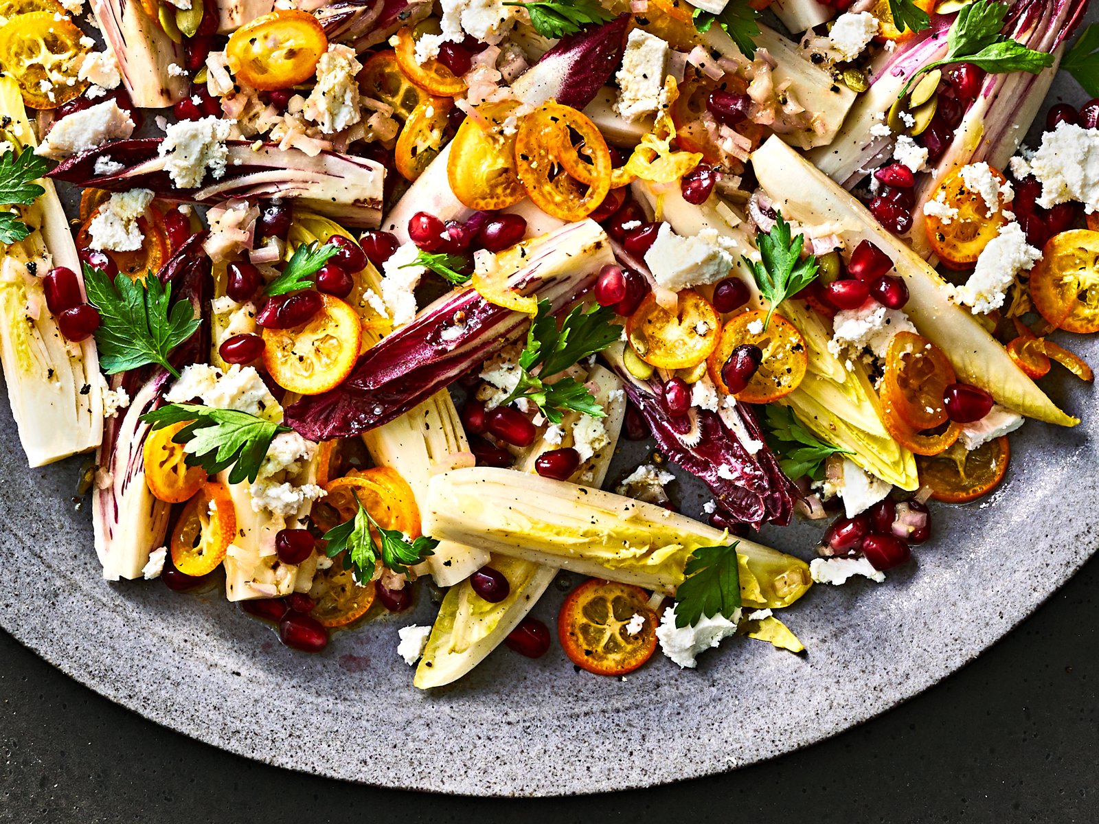 Endive Salad with Kumquats and Pomegranate Arils Recipe