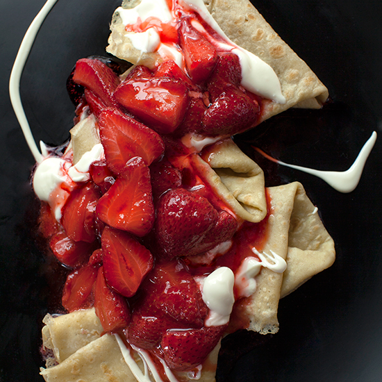 Gluten-Free Crêpes with Strawberries and Mascarpone