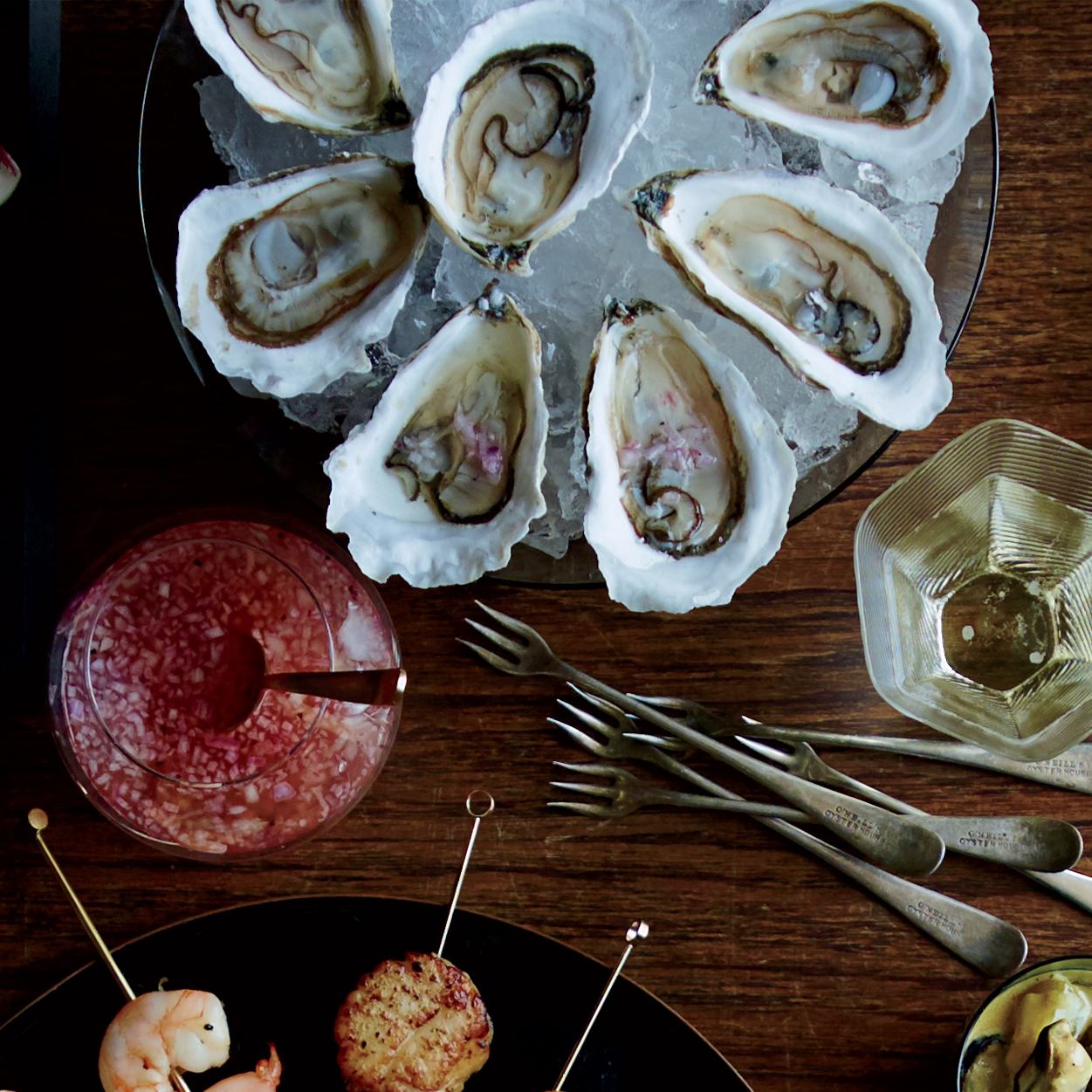 Raw Oysters with Cava Mignonette