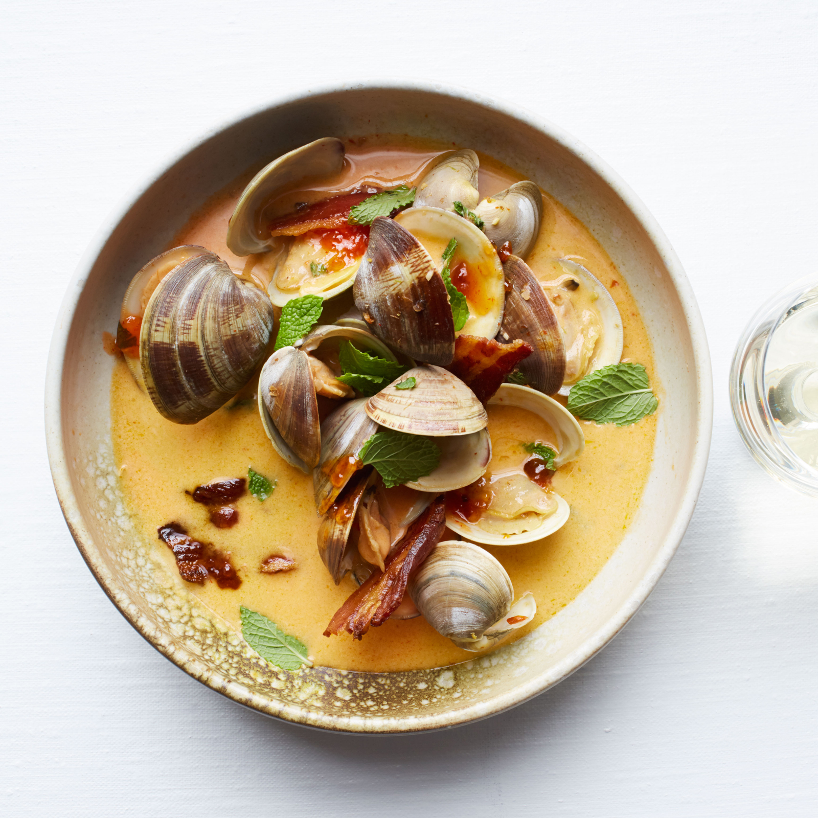 Pepper Jelly Braised Clams with Mint