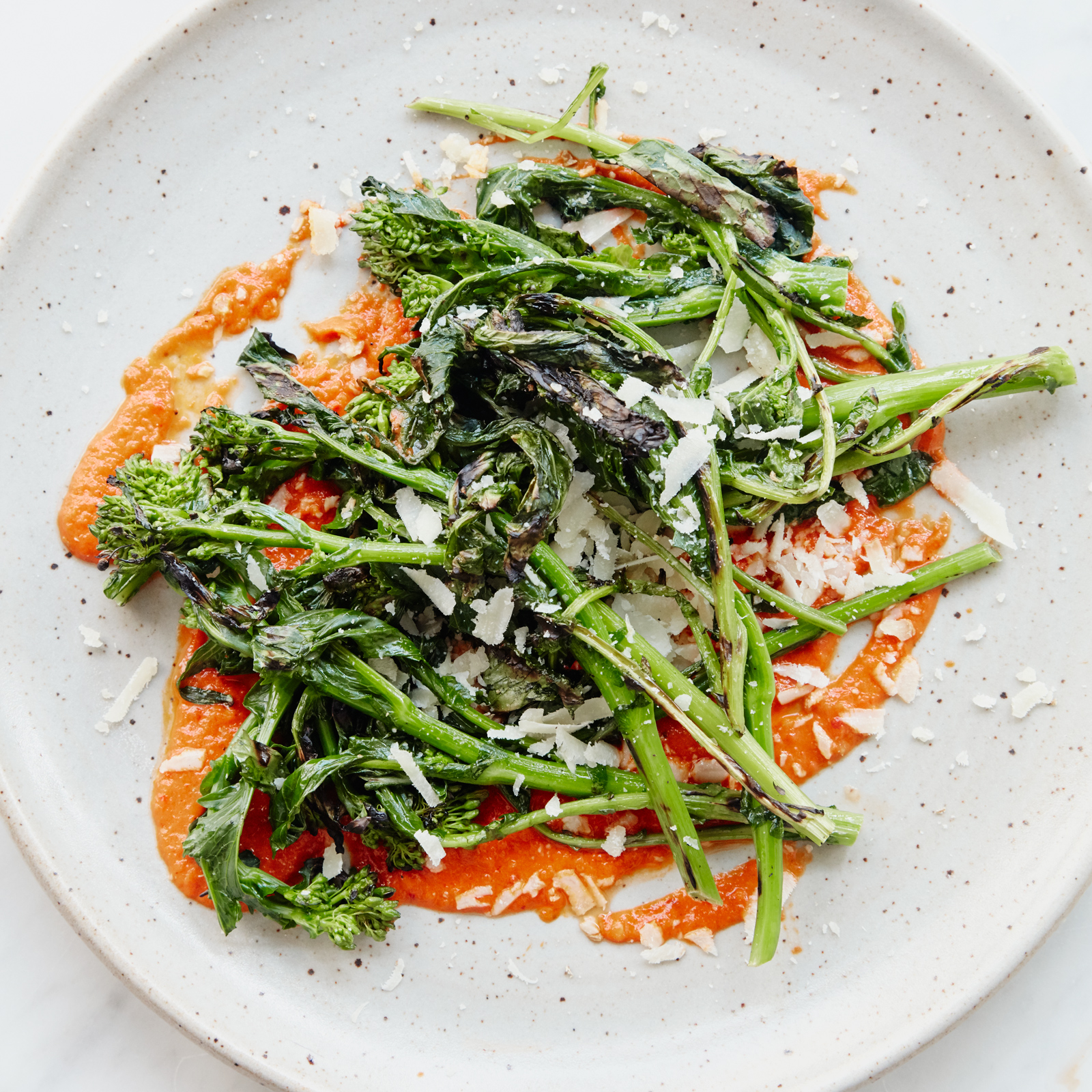 Grilled Broccoli Rabe with Salsa Rossa