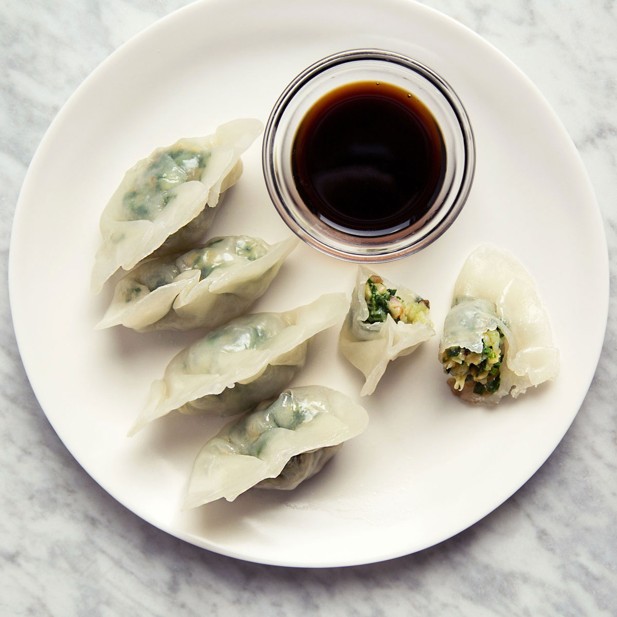Steamed Shrimp Dumplings with Chinese Chives