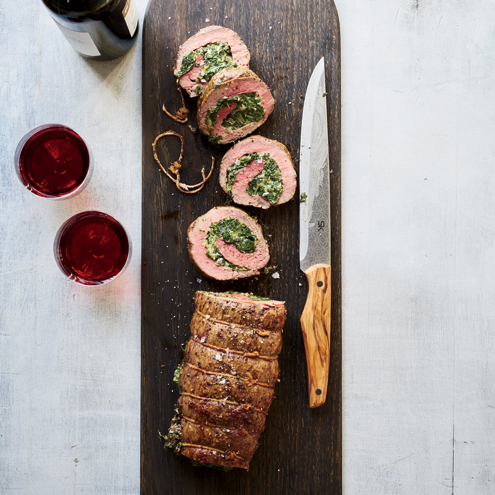 Creamed Spinach-Stuffed Filet Roast