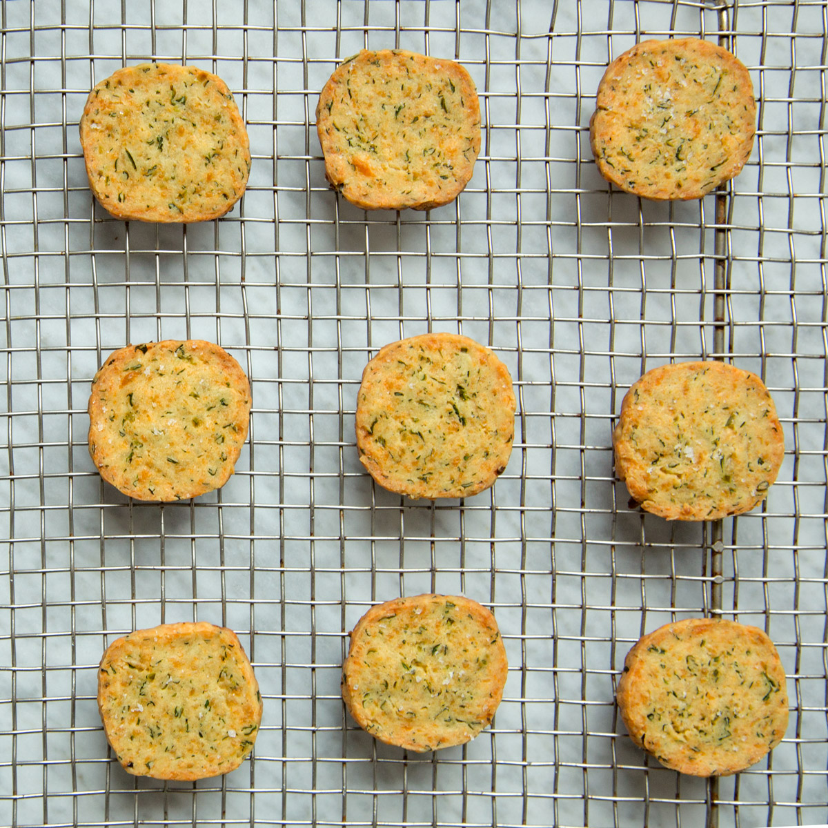 Chedder-and-Green Chile Shortbread