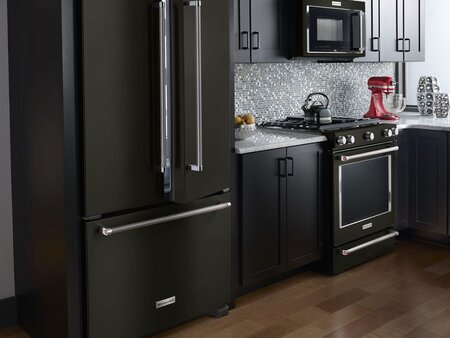 Look At These Beautiful Matte Black Major Appliances Refrigerator