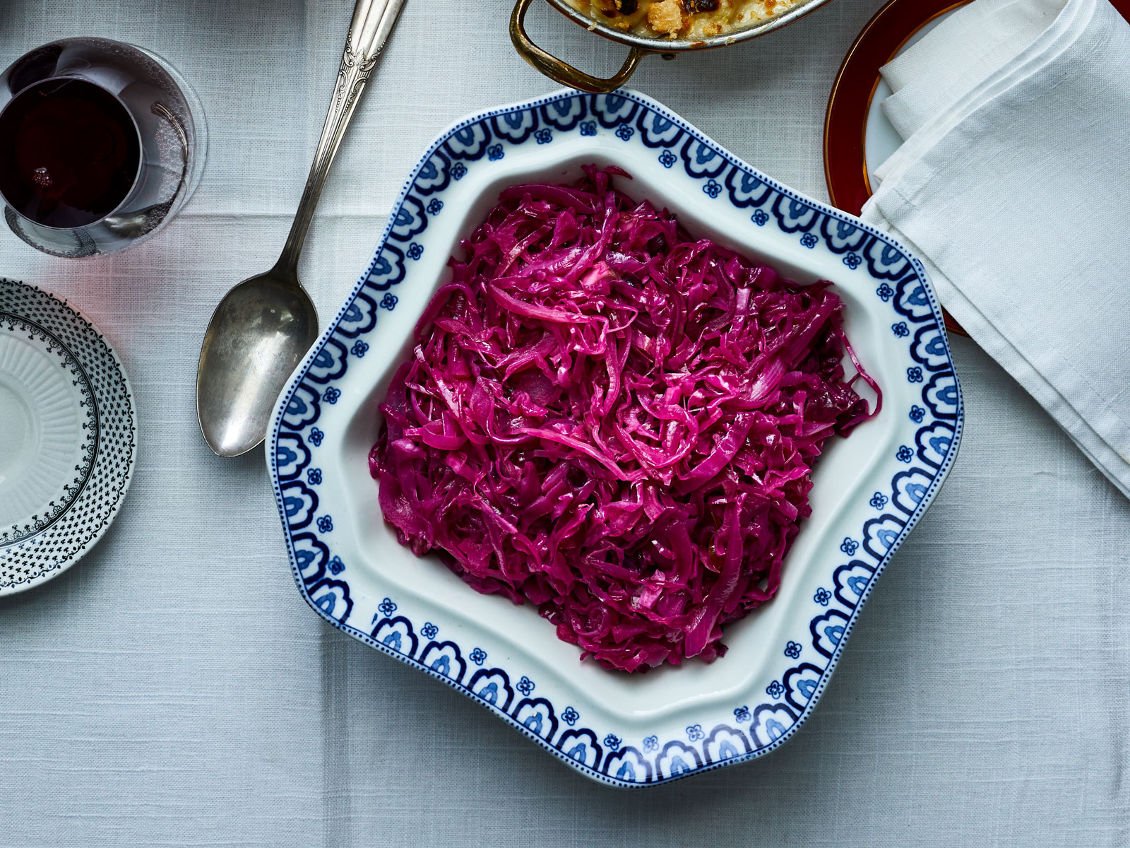 Braised Red Cabbage with Red Currant Jelly