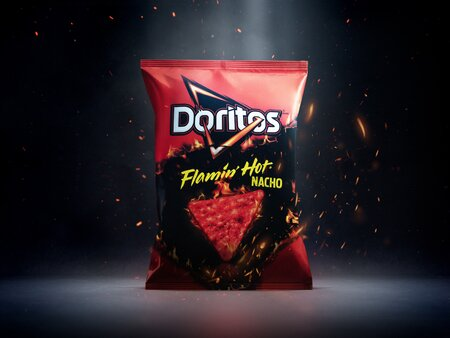 Doritos Unleashes Flamin Hot Flavor On Its Nacho Chips Food Wine