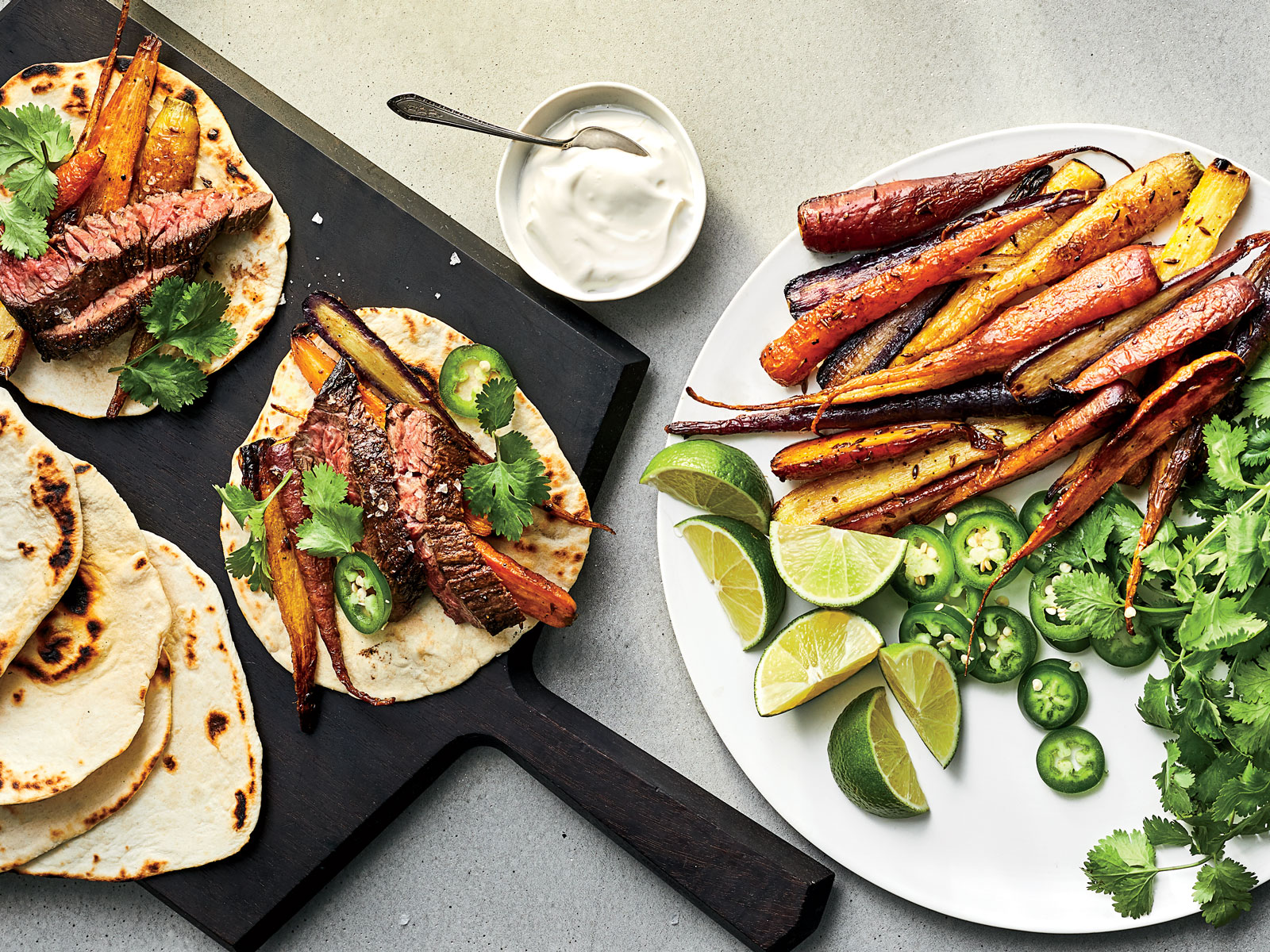 Steak-and-Carrot Tacos
