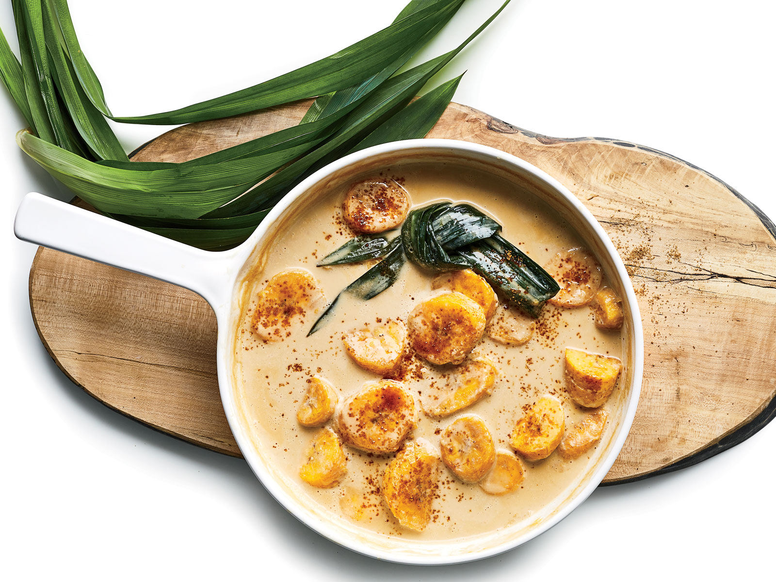 Simmered Plantains with Coconut Milk and Palm Sugar