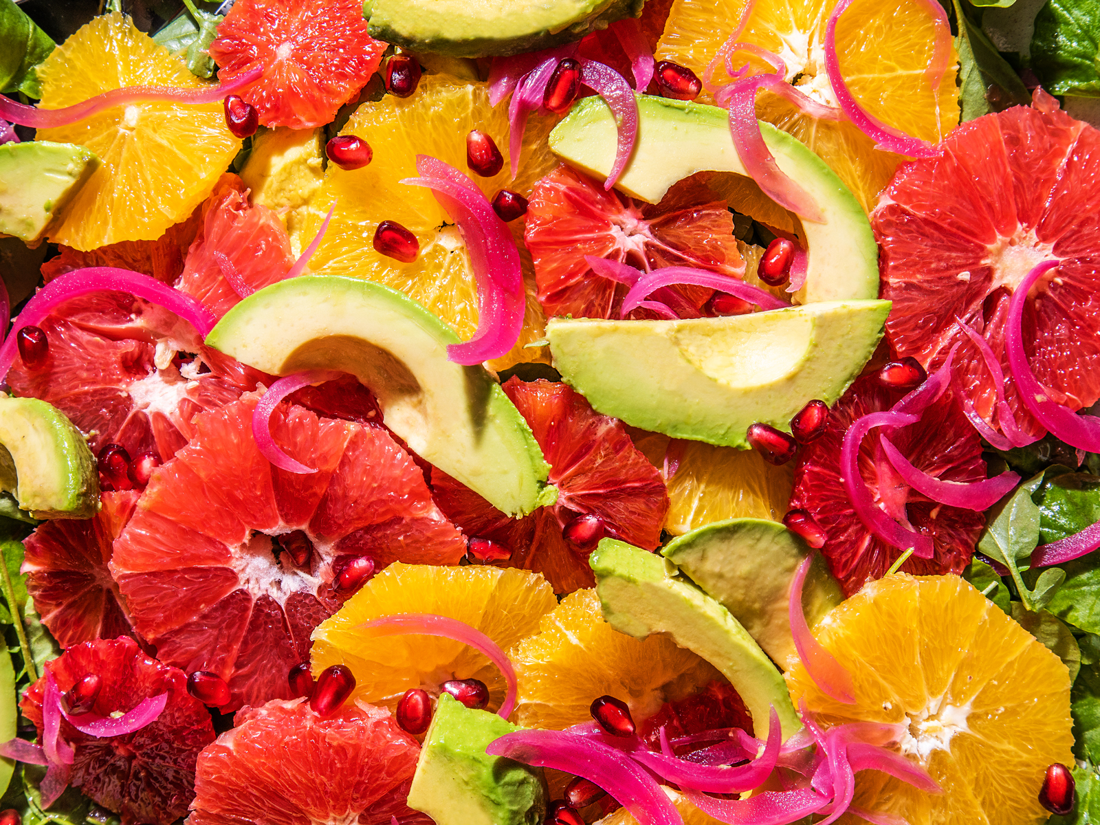 Citrus and Avocado Salad with Pickled Red Onions