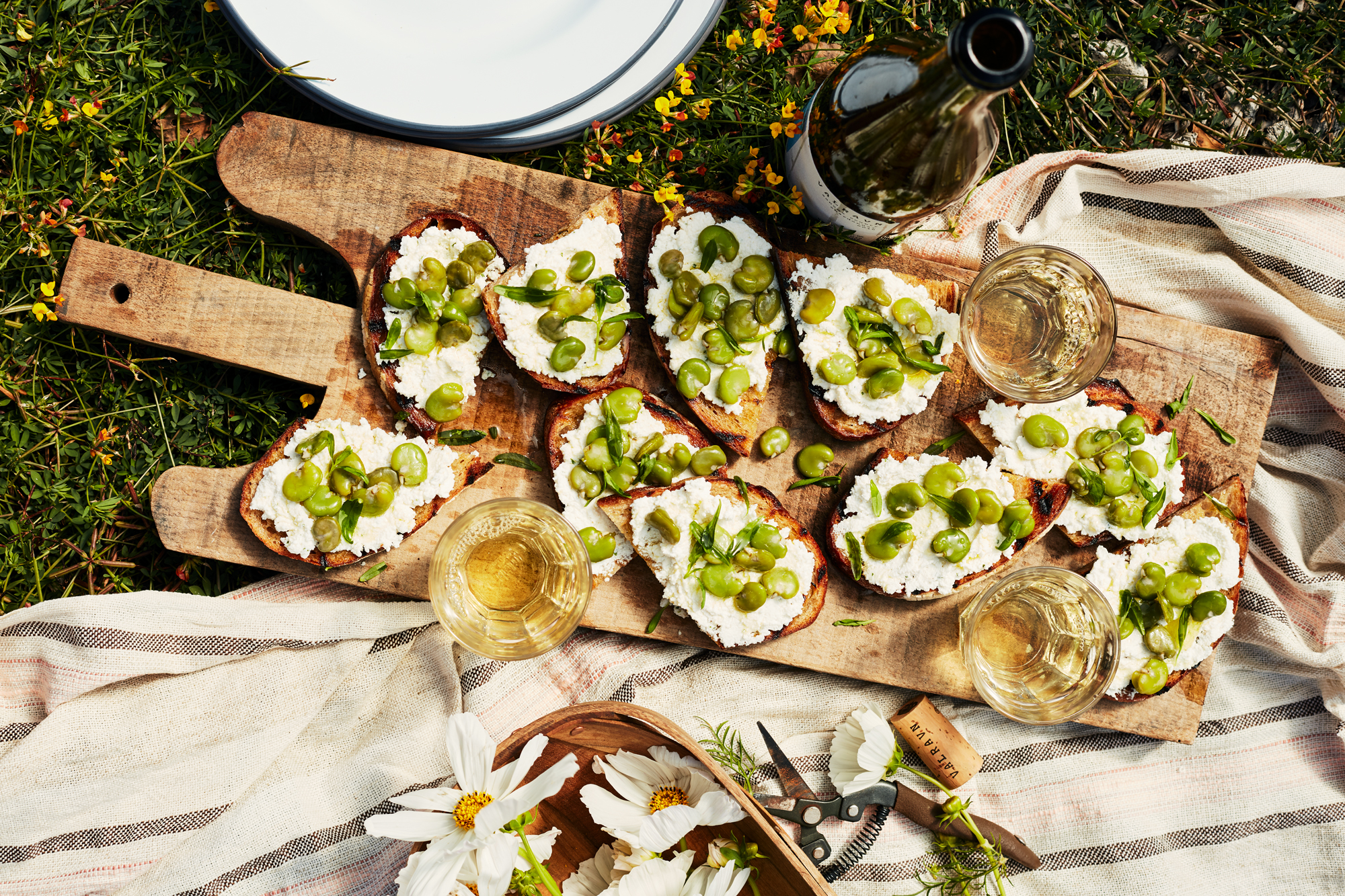 Ricotta-Fava Toasts Recipe