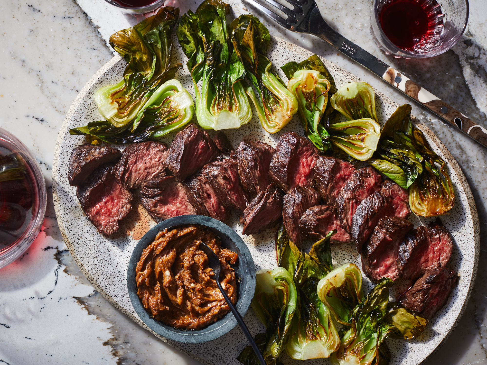 Steak with Roasted Bok Choy Recipe | FWCooks
