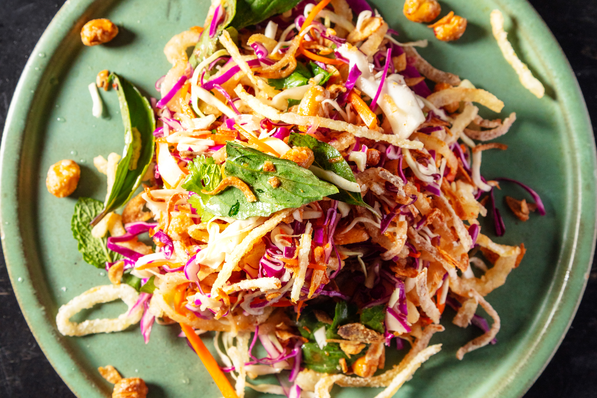 Crunchy Cabbage Salad with Peanuts and Fish Sauce Recipe