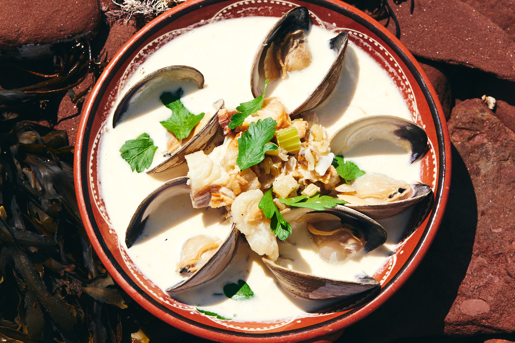 PEI Style Smoky Clam Chowder Recipe
