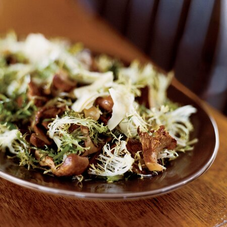 Warm Chanterelle And Frisee Salad