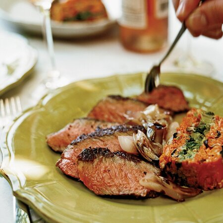 Grilled Steaks with Sweet-Spicy Hoisin Sauce