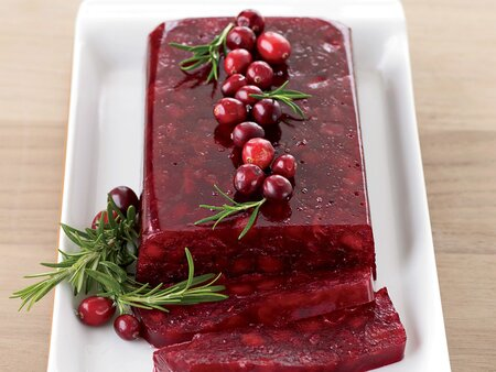 Jellied Cranberry Sauce With Fuji Apple Recipe Melissa Rubel