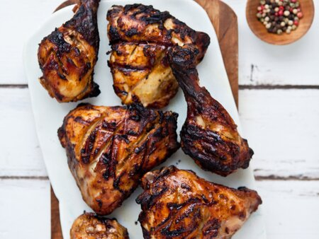 Chicken Legs Marinated in Yogurt and Spices