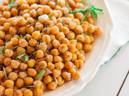 Crunchy Chickpeas with Rosemary and Olive Oil