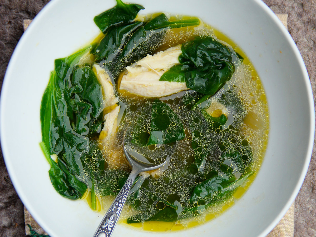 Turkey and Spinach Soup