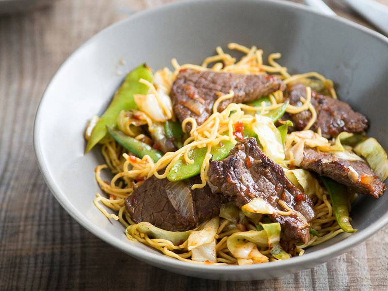 Spicy Beef Chow Mein Recipe Todd Porter And Diane Cu Food Wine