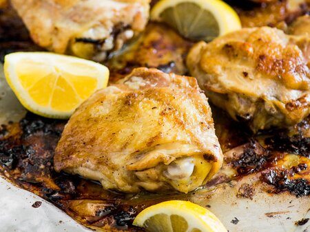 Lemon-and-Garlic Baked Chicken Thighs