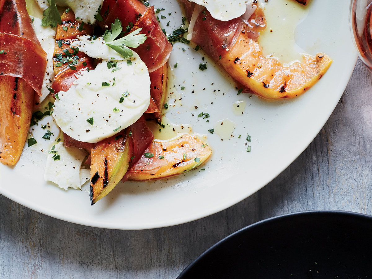 Day 29: Grilled Cantaloupe with Prosciutto and Mozzarella