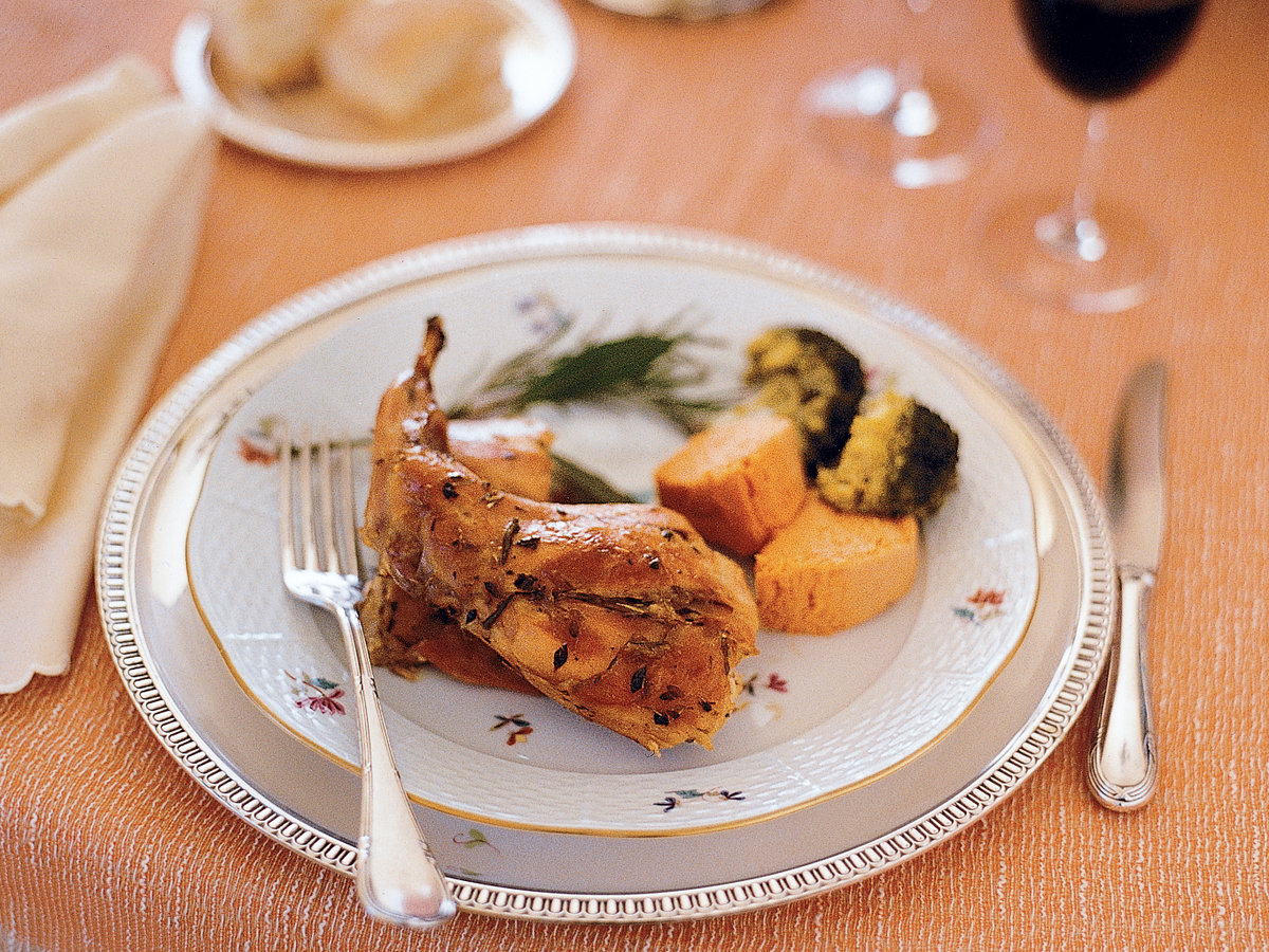 Casserole-Roasted Rabbit with Herbs