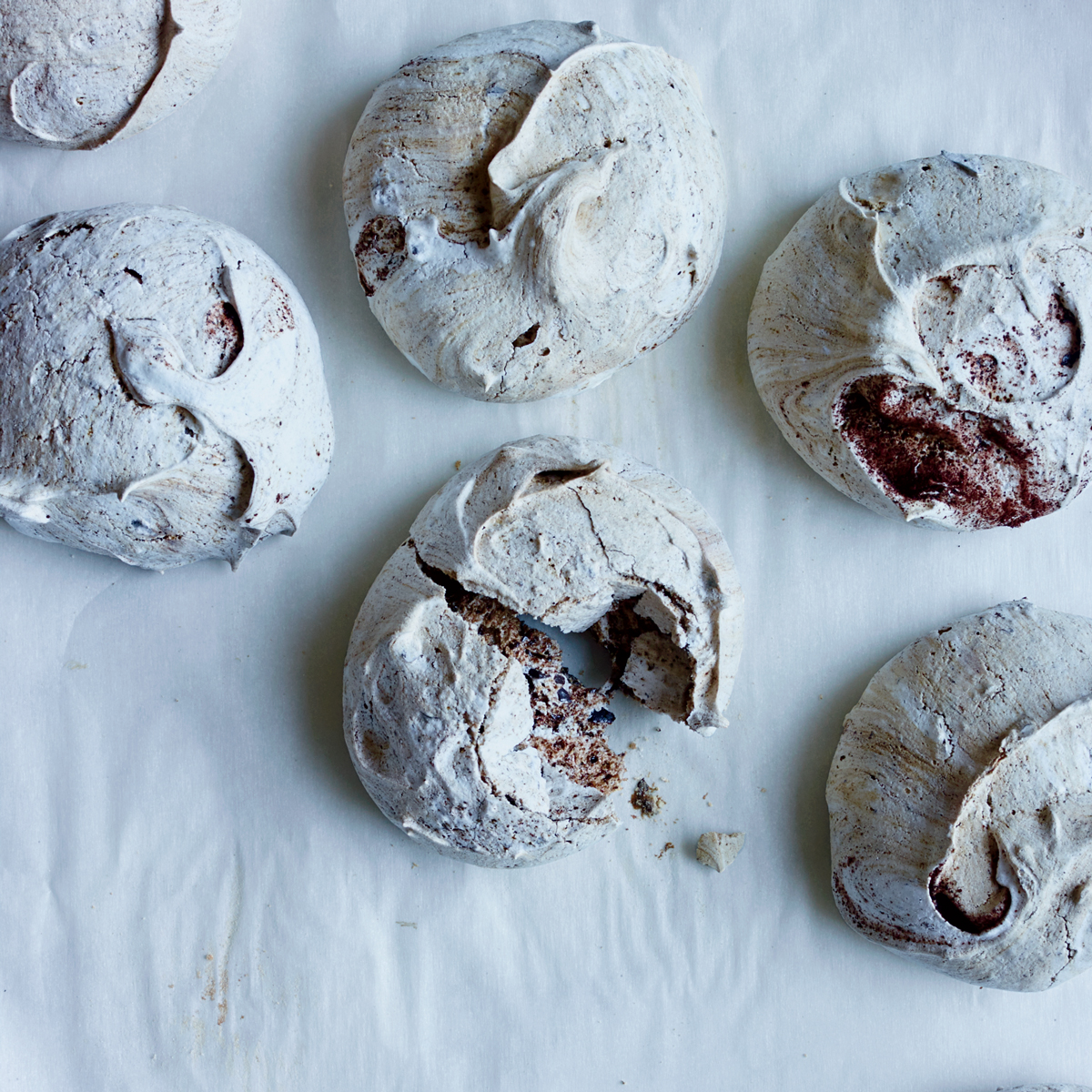 Chocolate Chip Espresso Meringues