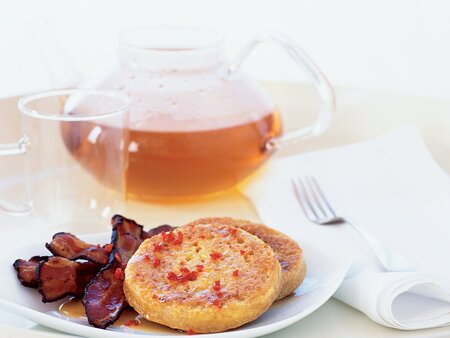 Crumpets with Bacon