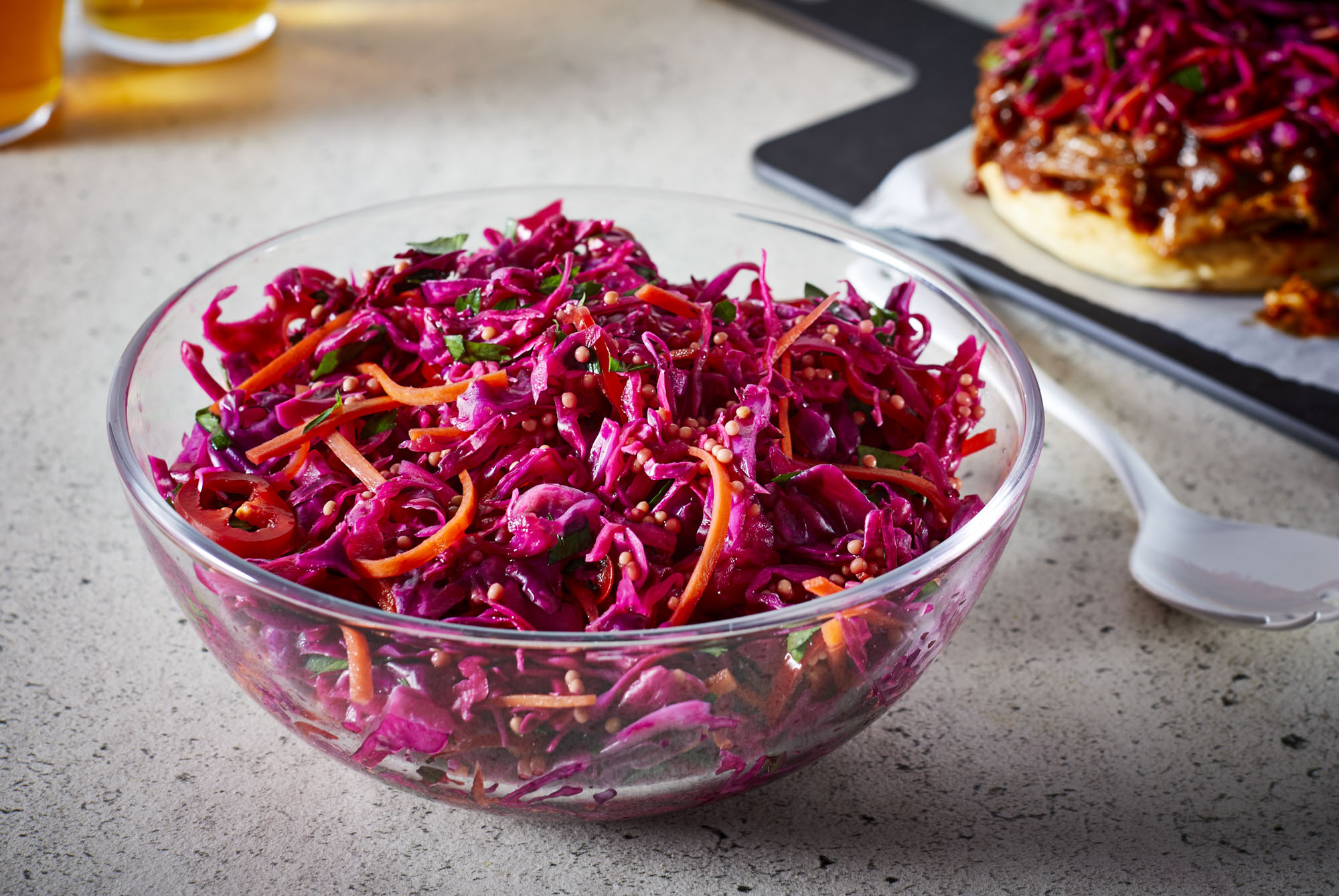 Quick Red Cabbage Slaw