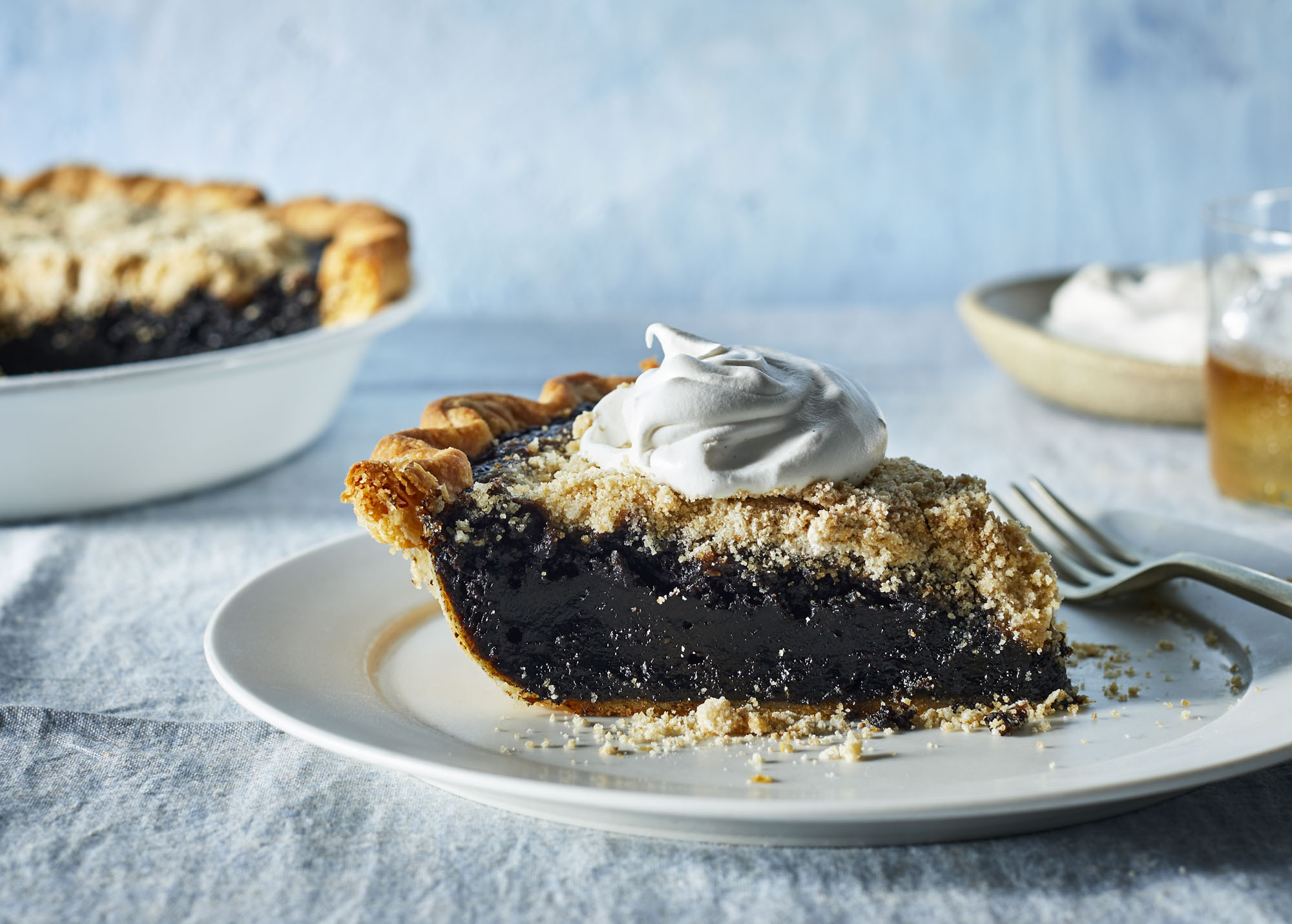 Shoofly Pie with Bourbon-Spiked Whipped Cream