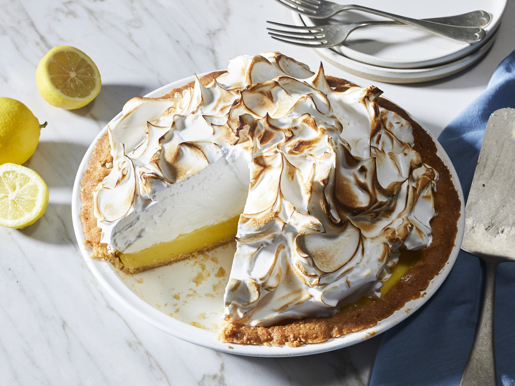 Lemon Meringue Pie with Marcona Shortbread Crust