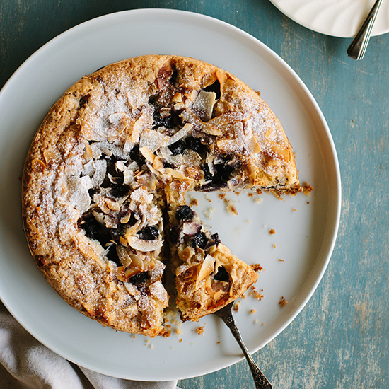 Blueberry, Lemon and Coconut Cake