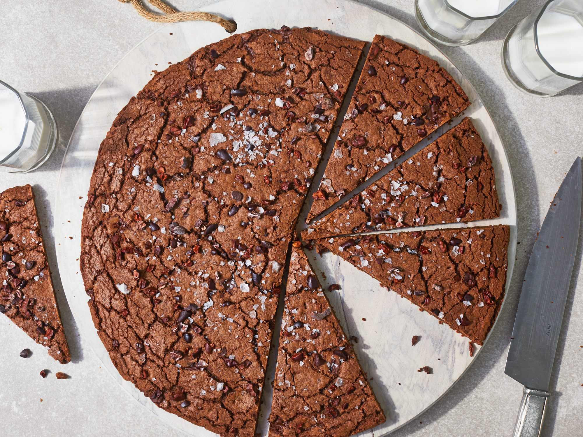 Giant Salty Chocolate Cookie with Cacao Nibs Recipe